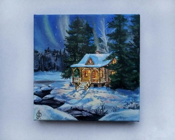 """Картина """"Зимній будиночок"""""""