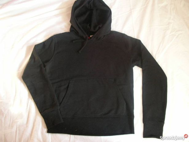 NOWA Bluza czarna z kapturem
