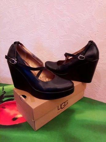 Продам туфли на платформе из натуральной кожи
