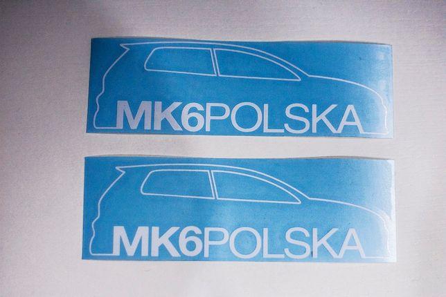 Naklejka VW GOLF MK 6 VI na szybę (volkswagen, auto, sticker)