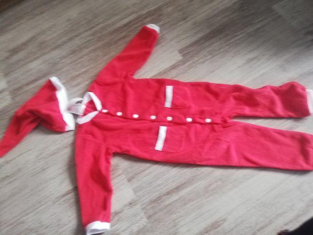 Nowy kombinezon pajacyk piżamka 86 cm H&M świąteczne sesja mikołaj