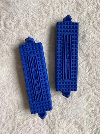 Wkladki do strzemion Compositi niebieskie