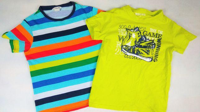 2 t-shirt 122/128 6/8lat dla chłopca bluzeczki krótki rękawek