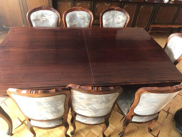 Drewniany stół 8 krzesel