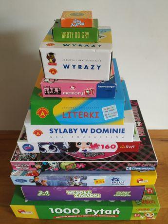 Gry puzzle zestaw 11 sztuk plus gratisy
