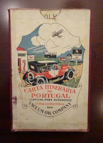 Carta Itinerária de Portugal Vacuum Oil Company -1926