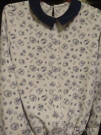 Блузка для девочки совушки