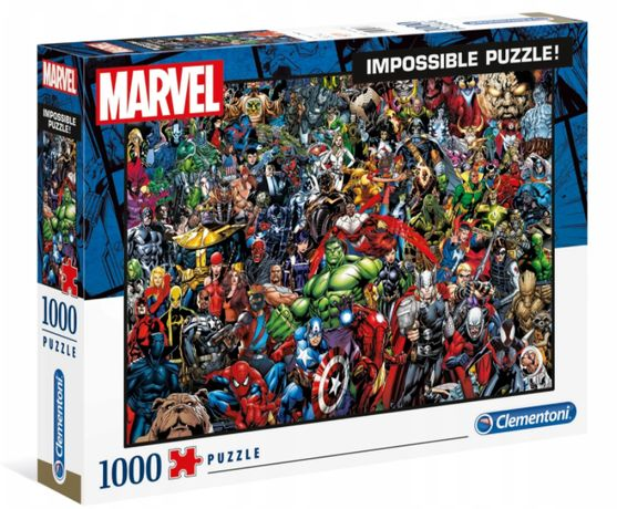 Clementoni 39411 Puzzle 1000 IMPOSSIBLE MARVEL