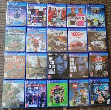 Jogos PS4 - novos a estrear - com vários preços desde...