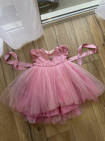 Плаття платье рожеве розовое 86 розмір