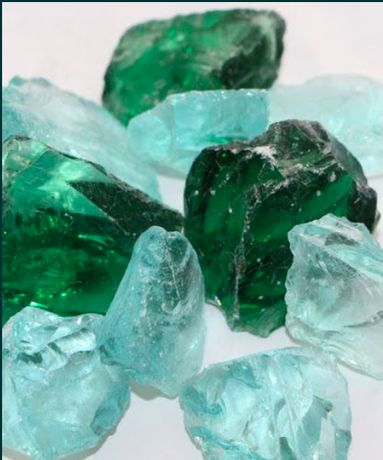 Szkło Turkusowe Zielone Niebieskie Mleczne Kamień do Ogrodu Akwarium