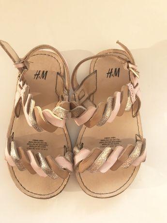 Sandały h&m skórzane