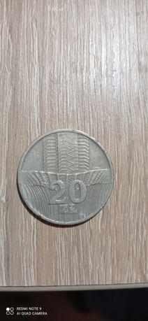 Moneta PRL - 20zł bez znaku mennicy