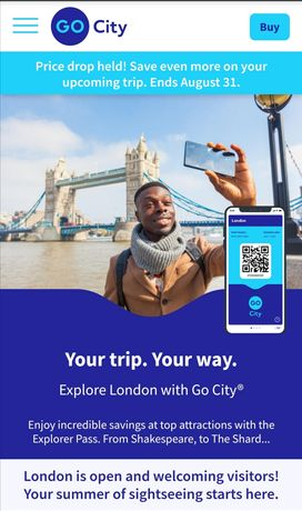 Passe turístico para Londres