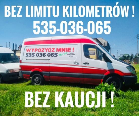 Wynajem busa - Busy dostawcze BEZ LIMITU KILOMETRÓW !