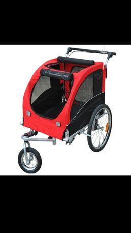 Przyczepka rowerowa 2w1 dla psa