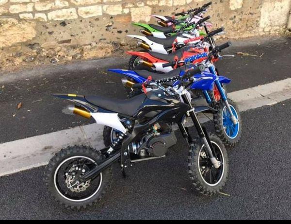 Mini motacross gasolina novo de cilindrada 49