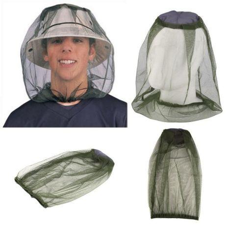 Hit ! Siatka na głowę przeciw komarom na ryby wędkę