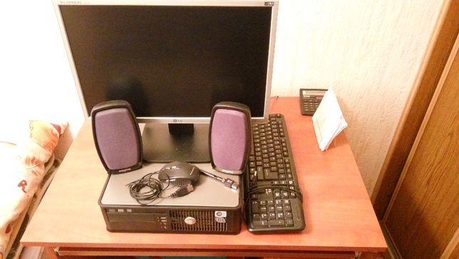 Zestaw komputerowy, dell optiplex 760, monitor, klawiatura, głośniki