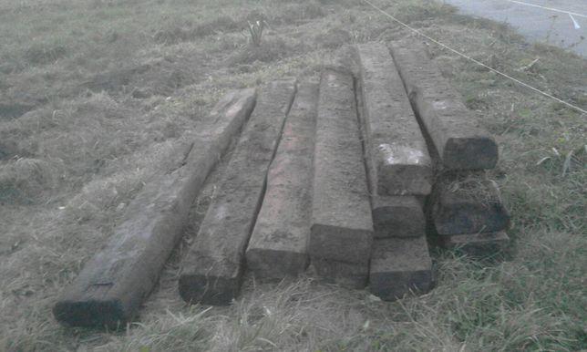 Podkłady drewniane kolejowe belki na budowe