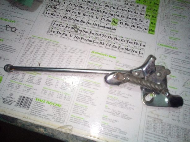 Nóżka, podpórka rowerowa na tylne koło. Metalowa.