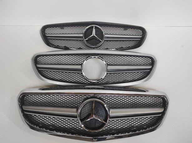 Решетка радиатора Mercedes C-klass W205 Classic в стиле AMG