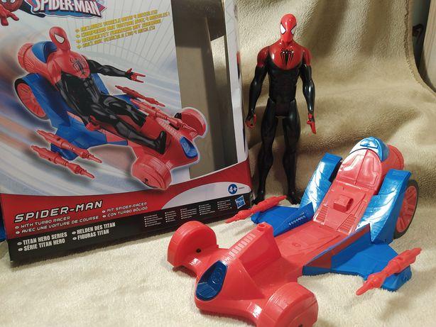 Spiderman z pojazdem