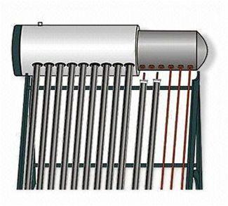 "Conjunto Solar Termocifão 240L ""heat pipe"" Aço Inoxidável"