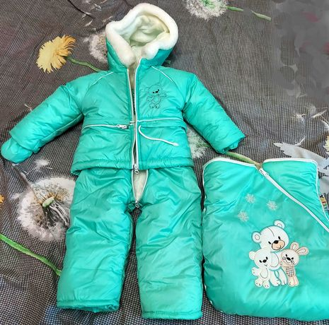 Зимний конверт-комбинезон (куртка, полукомбинезон, конверт) Alisa