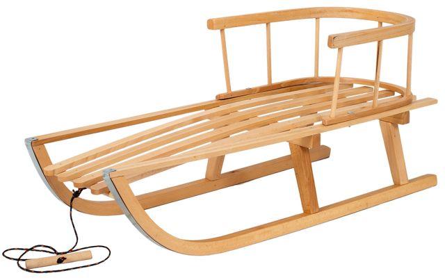 Sanki drewniane z oparciem+gratisy