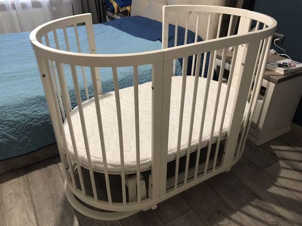 Круглая/овальная кроватка-трансформер SMART BED 9-в-1