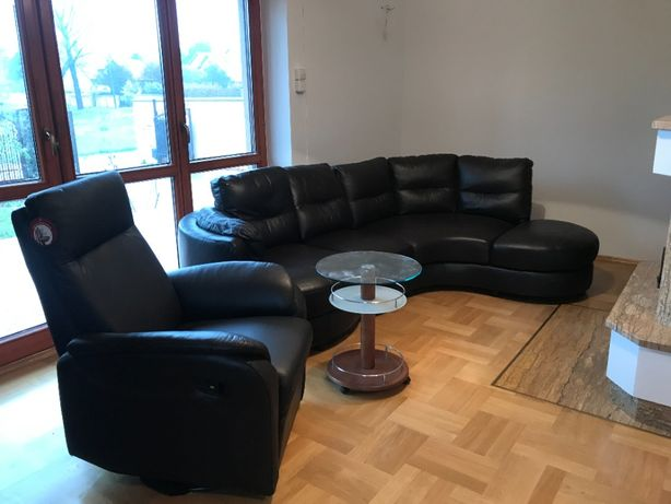 Sprzedam skórkowa kanape z fotelem