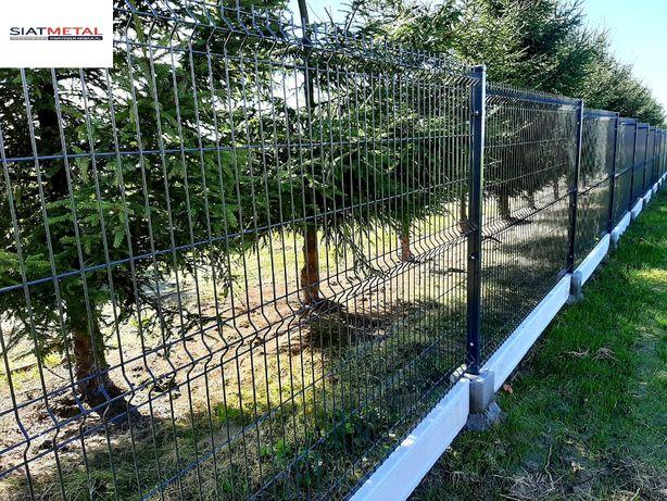 Kompletne ogrodzenie panelowe fi5 143cm /ocynk + kolor