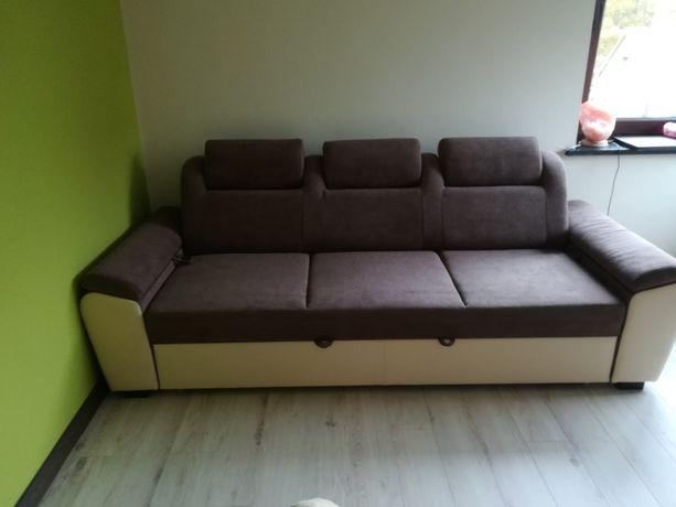 Sofa kanapa brązowa