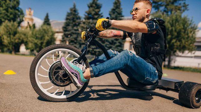 Електробайк триколісний електро велосипед