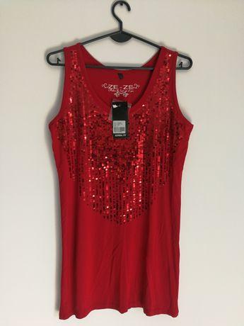ZE ZE rozm L nowa sukienka czerwona fajna