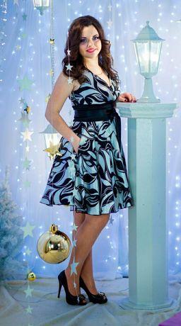 Платье нарядное шёлковое