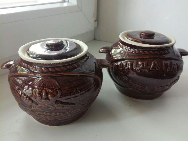 Набор керамической посуды 2 горшочка