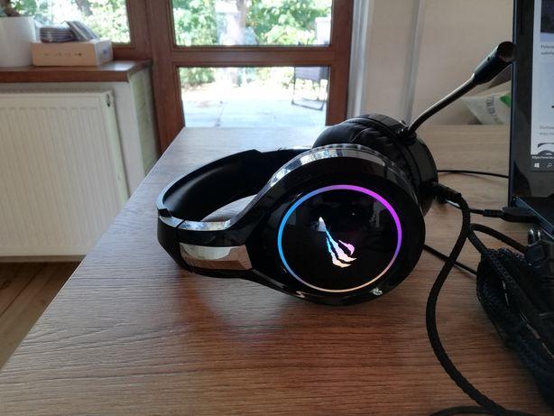Słuchawki przewodowe podświetlane dla graczy