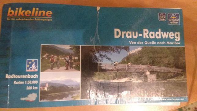 Mapa rowerowa Bikeline Drau-Radweg Von Quelle nach Maribor