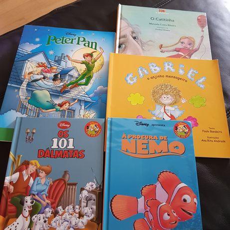 Lote 5 livros infantis