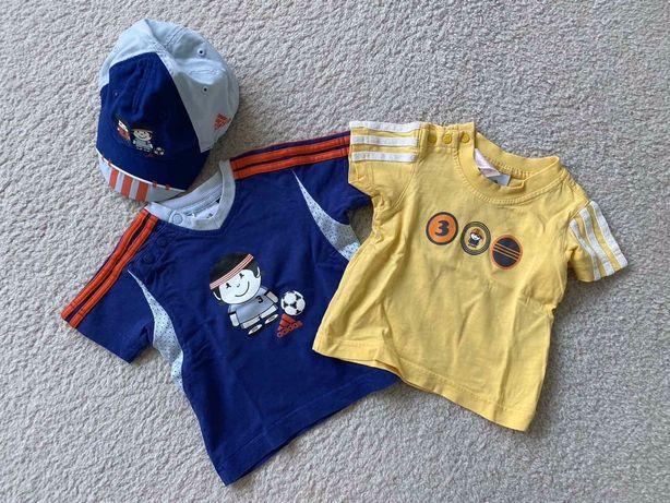 Adidas Kids футболка кепка блайзер панамка