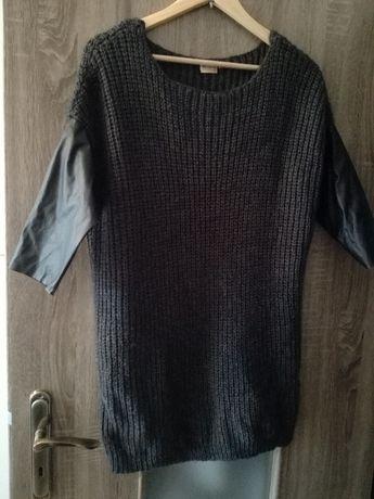 Tunika sweter skóra M