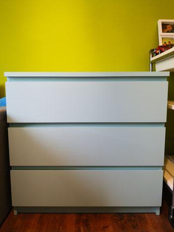 Komoda Ikea malm 3 szuflady jasny błękit