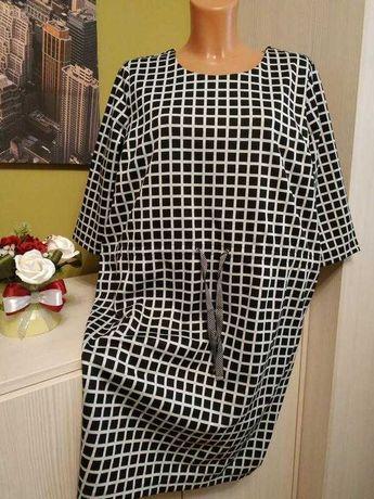 Платье в клетку на 50 размер Esmara