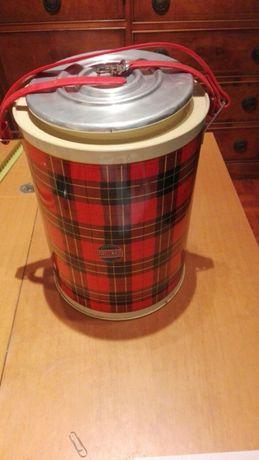 Termo vintage porta quentes ou frios em bom estado