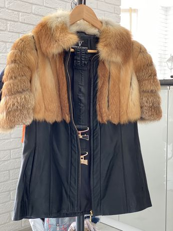 Куртка, безрукавка, меховая желетка, лиса, кожанная курточка