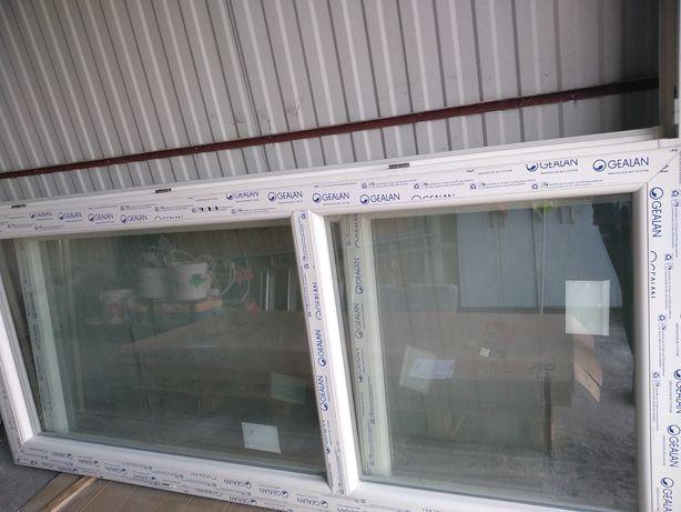 Duże okno plastikowe balkonowe nowe