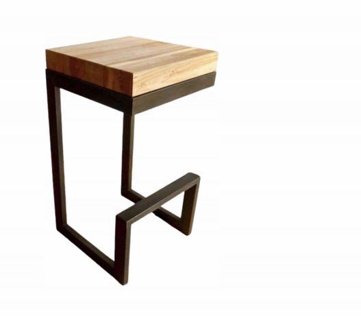 Hoker Loft Krzeslo Barowe Dębowe 2 sztuki Stołek Dąb
