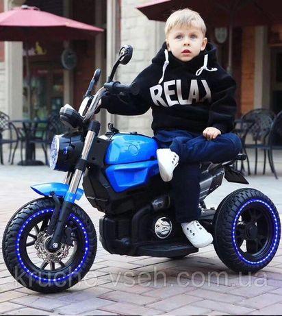 Детский электромобиль Мотоцикл M 3687, BMW, резиновые колеса, кожа